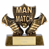 Man Of the Match3 Football Trophy Shield AGGT 3.25 Inch