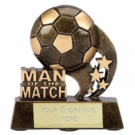 Man of the Match3 Football Trophy Swoosh AGGT 3.25 Inch