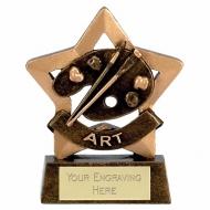 Mini Star Art Award Trophy AGGT 3.25 Inch