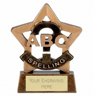 Mini Star Spelling Award Trophy AGGT 3.25 Inch