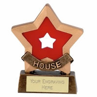 Mini Star Red House Award Trophy AGGT 3.25 Inch
