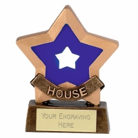 Mini Star Blue House Award Trophy AGGT 3.25 Inch