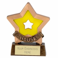 Mini Star Yellow House Award Trophy AGGT 3.25 Inch