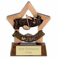 Mini Star Music Award Trophy AGGT 3.25 Inch