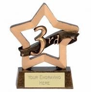 Mini Star 3rd Place Award Trophy AGGT 3.25 Inch