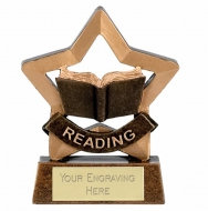 Mini Star Reading Award Trophy AGGT 3.25 Inch