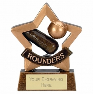 Mini Star Rounders Award Trophy AGGT 3.25 Inch