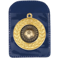 Large Medal Pouch Blue 62 x 86mm
