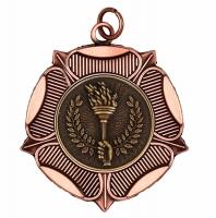 LuxTudorRose50 Medal Bronze 50mm