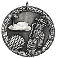 Laurel50 Golf Medal Silver 50mm