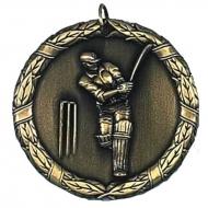 Laurel50 Cricket Medal Gold 50mm