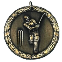 Laurel50 Cricket Medal Gold 50mm