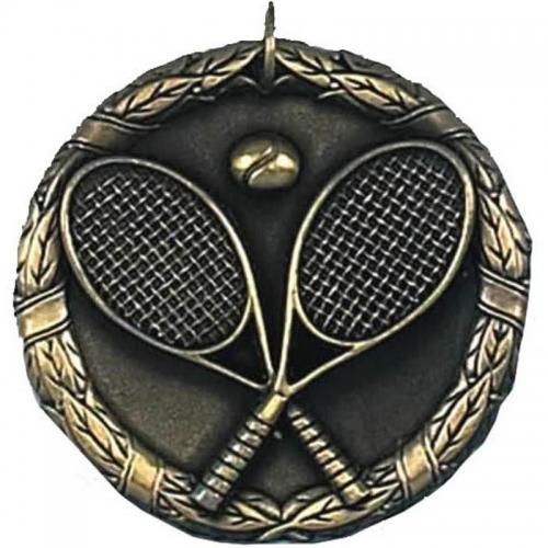 Laurel50 Tennis Medal Gold 50mm