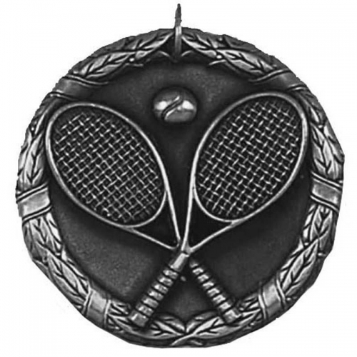 Laurel50 Tennis Medal Silver 50mm