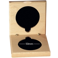 Medal Case50 Natural Wood Light Oak 50mm