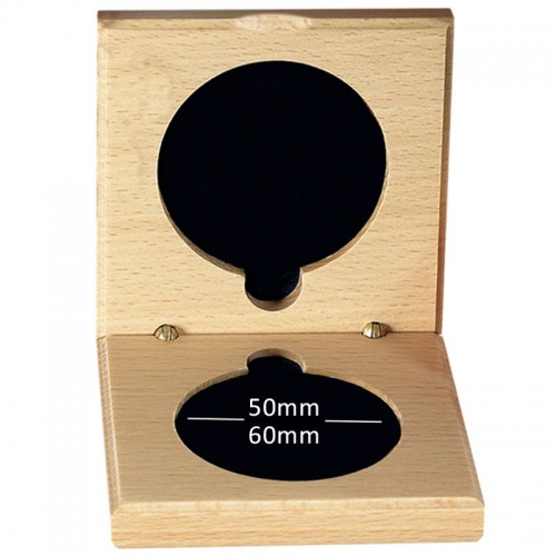 Medal Case60 Natural Wood Light Oak 60mm Recess