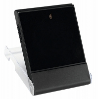 Medal Box Plastic L - Clear with Black/Clear 87mm H x 70mm W x 15mm D