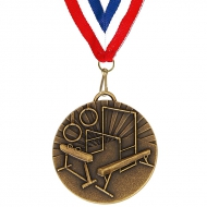 Target50 Gymnastics Medal with FREE Red White and Blue Ribbon Bronze 50mm