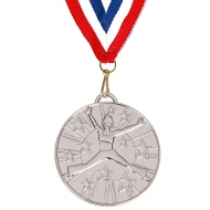 Target50 Dance Medal with RWB Silver 50mm