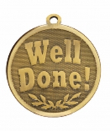 GALAXY Well Done Medal Bronze 45mm
