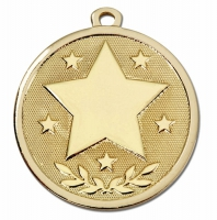 GALAXY Stars Medal Gold 45mm