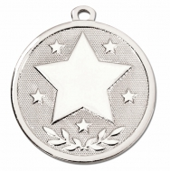GALAXY Stars Medal Silver 45mm