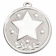 GALAXY Stars Medal Silver 45mm