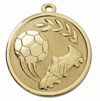 GALAXY Football Boot & Ball Medal Gold 45mm