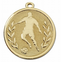 GALAXY Footballer Medal Gold 45mm Award