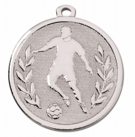 GALAXY Footballer Medal Silver 45mm