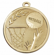 GALAXY Netball Medal Gold 45mm