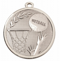 GALAXY Netball Medal Silver 45mm