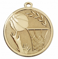 GALAXY Basketball Medal Gold 45mm