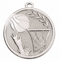 GALAXY Basketball Medal Silver 45mm