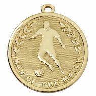 GALAXY Football Man of the Match Medal Gold 45mm