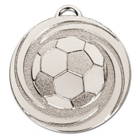 TARGET Twirl Football Medal Silver 50mm