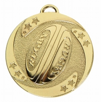 TARGET Rugby Stars Medal Gold 50mm
