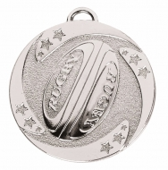 TARGET Rugby Stars Medal Silver 50mm