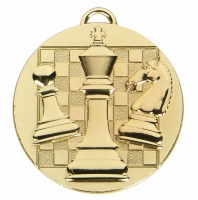 TARGET Chess Medal Gold 50mm