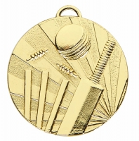 TARGET Cricket Medal Gold 50mm
