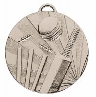 TARGET Cricket Medal Silver 50mm