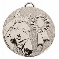 TARGET Horse Rosette Medal Silver 50mm