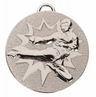 TARGET Karate Medal Silver 50mm