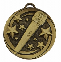 TARGET Microphone Medal Bronze 50mm