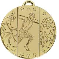 TARGET Triathlon Medal Gold 50mm