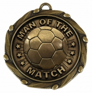 COMBO Man of the Match Medal with 1 Gold/Red/White/Blue 45mm