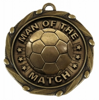 COMBO Man of the Match Medal with FREE Red White and Blue Ribbon 45mm