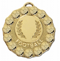 FIESTA Football Medal Gold 50mm