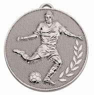CHAMPION Football Medal Silver 60mm