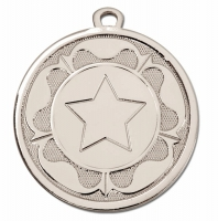 GALAXY Tudor Rose Medal Silver 45mm